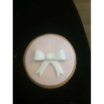 Biscuit Pink with White Bow