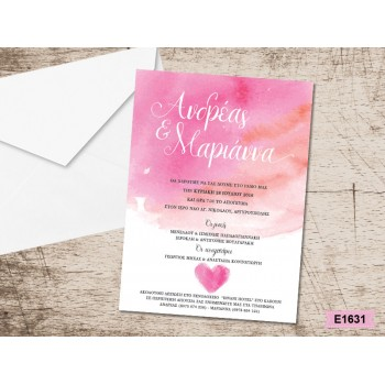 Wedding Invitation Heart in Canvas design