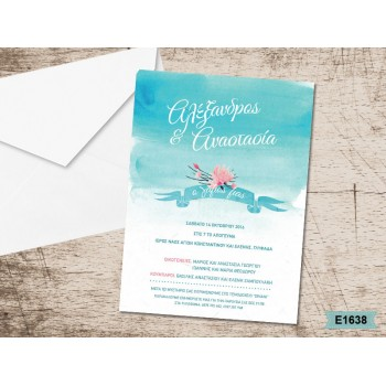 Wedding Invitation Flowers in Canvas design