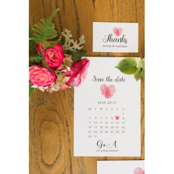 Calendar Save the date Invitation