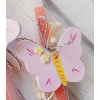 Easter Candle Ceramic Butterfly