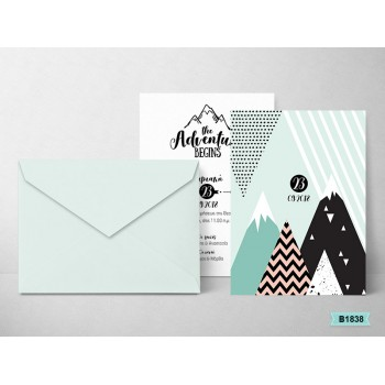 Christening Invitation Mountains