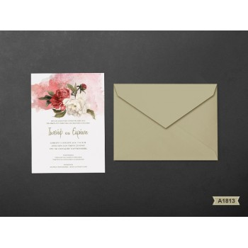 Wedding Invitation Peonies