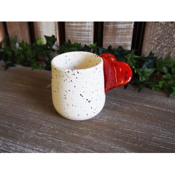 Handmade Ceramic Mug with Splashes - In Love