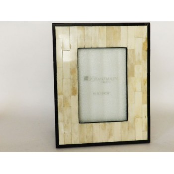 Photo frame White Bone