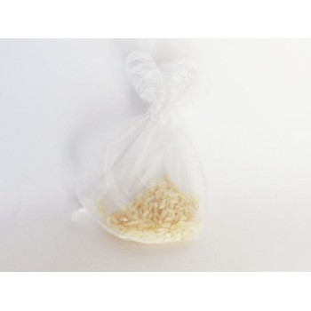 Rice lace pouch