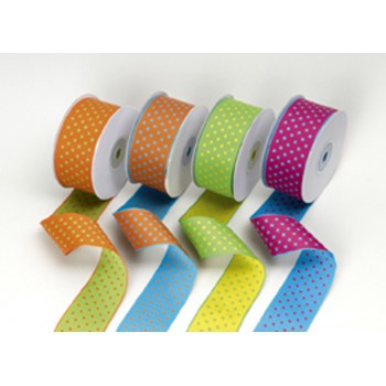 Fabric double sided dots ribbon
