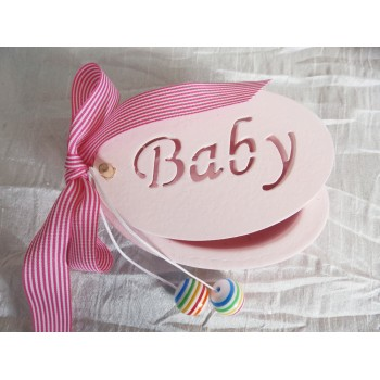 "Wooden Pink Box ""Baby"""