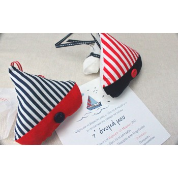Fabric Boat Favour