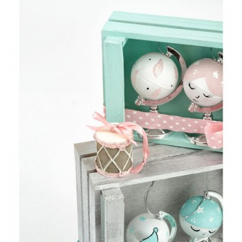 Baby Christmas Balls with Painted Little Globes