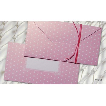 Christening  envelope-invitation with pink Dots